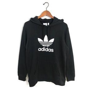 Adidas Trefoil Hoodie Black White Logo